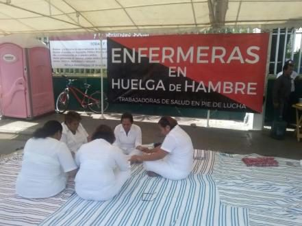 Huelga de hambre en hospital de la capital Chiapaneca