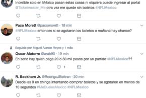 #NFLMéxico un Fiasco en su preventa de boletos