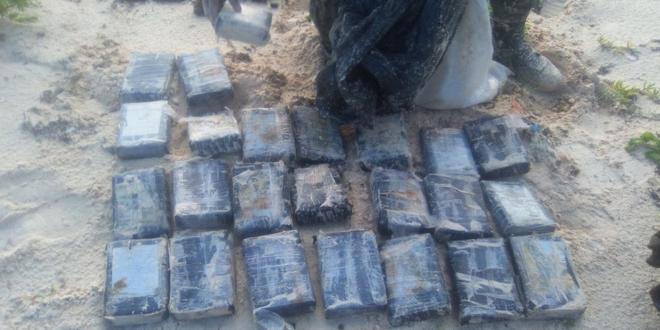 Hallan 25 paquetes con cocaína en Cozumel