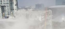 Edificio en construcción en Polanco se derrumba parcialmente