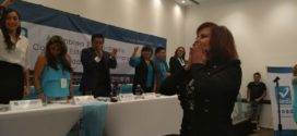El Partido Nueva Alianza presentó a Carpinteyro como candidata a la jefatura de gobierno