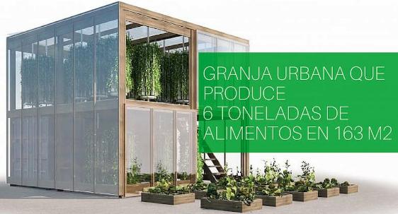 Granja urbana que produce 6 toneladas de alimentos en 163 m2