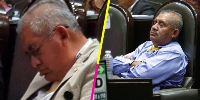 Diputado de Morena Manuel Huerta se duerme en su curul por segunda ocasión