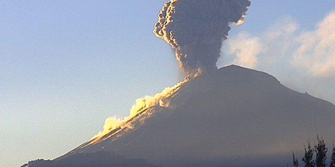 Reportan 22 exhalaciones del volcán Popocatépetl