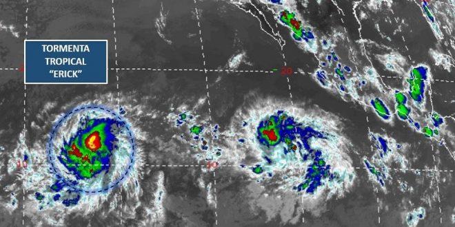 Tormenta tropical Erick se volverá huracán sin afectar a México