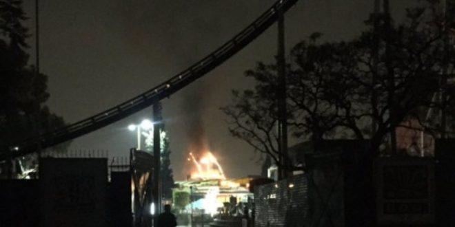 Incendio en la Feria de Chapultepec