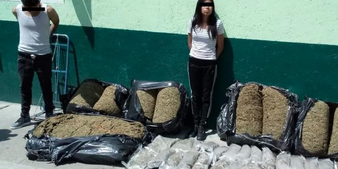 En operativo, decomisan 100 kilos de mariguana en Tepito