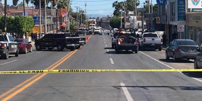 Ataque armado en Guaymas deja cinco policías muertos